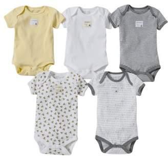 Burt's Bees Baby Organic Short Sleeve Bodysuits, Preemie, Sunshine, 5 Ct