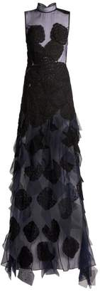 Behno - Behno X Fafine Niutao I Aotearoa Silk Organza Gown - Womens - Navy