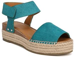 Franco Sarto Oak Genuine Calf Hair Platform Wedge Espadrille