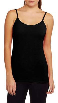 Faded Glory Women's Essential Knit Layering Cami With Retractable Straps