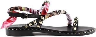 Ash Foulard Flower Flat Sandals