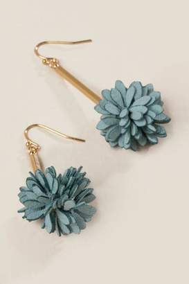francesca's Brenna Flower Drop Earrings - Teal