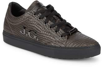 John Galliano Men's Embossed Leather Sneakers