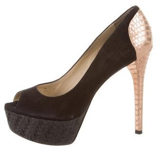 B Brian Atwood Peep-Toe Platform Pumps $95 thestylecure.com