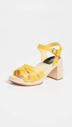 Swedish Hasbeens Elsie Ankle Strap Clogs