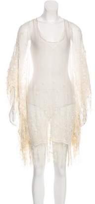 Alice + Olivia Semi-Sheer Silk Dress