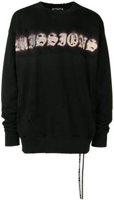 Mastermind Japan Missions distressed sweatshirt