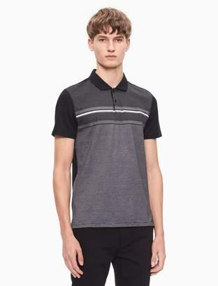 Calvin Klein slim fit stripe jacquard polo shirt