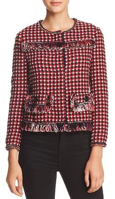 Moschino Loop-Fringed Cropped Jacket