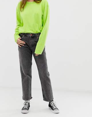 Cheap Monday Revive distressed hem straight cut jeans