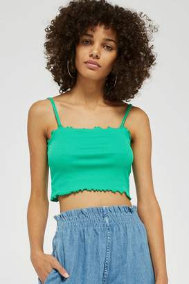Topshop TALL Riley Lettuce Edge Camisole Top