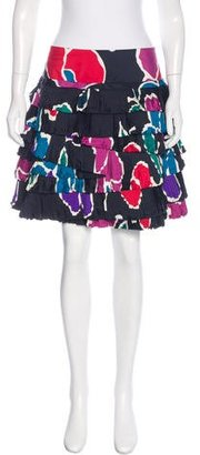 Marc by Marc Jacobs Abstract Print Pleated Skirt