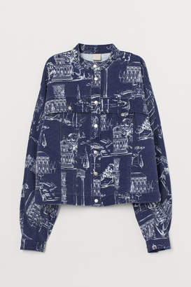H&M Denim Shirt Jacket - Blue