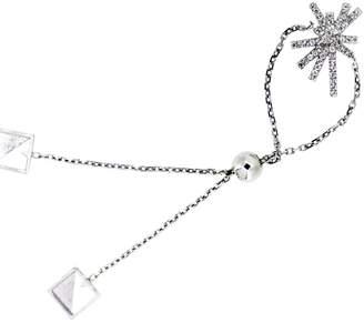 Maiko Nagayama - Contrast Of Temperature White Topaz Chain Bracelet