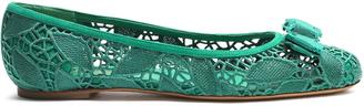 SALVATORE FERRAGAMO Varina lace ballet flats $479 thestylecure.com