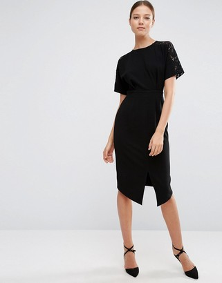 ASOS Wiggle Dress with Lace Insert $68 thestylecure.com