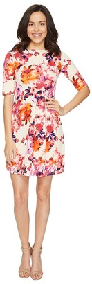 Christin Michaels - Anya 3/4 Sleeve Dress Women's Dress $89 thestylecure.com