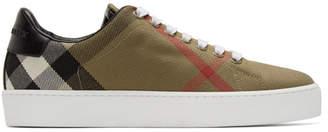 Burberry Brown Tonal Check Sneakers