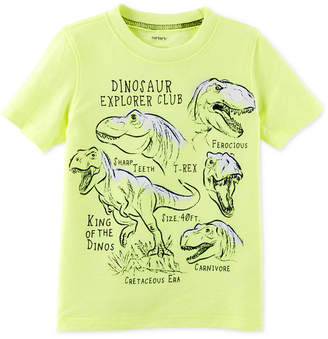 Carter's Dino-Print Cotton T-Shirt, Little Boys