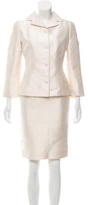 Dolce & Gabbana Structured Silk Skirt Suit