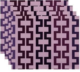 """Simply Daisy 18"""" x 14"""" Cuff-Links Geometric Print Placemats, Set of 4"""