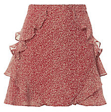 Derek Lam 10 Crosby Red Ruffle Mini Skirt $350 thestylecure.com