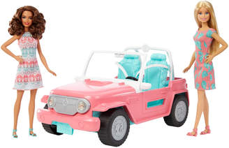 Barbie Beach Jeep & Dolls Playset