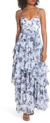 Fame & Partners Catherine Floral Print Gown