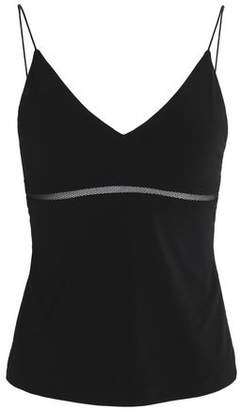 Alice + Olivia Mesh-Trimmed Stretch-Knit Camisole