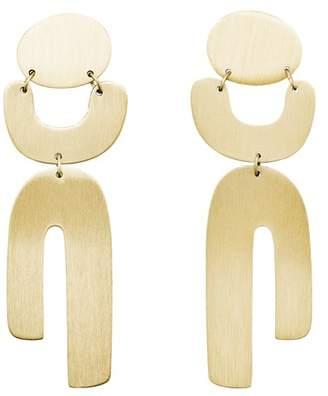 Fossil Geometric Gold-Tone Brass Earrings jewelry GOLD