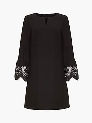 Phase Eight Angelika Lace Sleeve Dress, Black