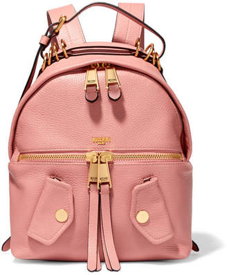 Moschino - B-pocket Textured-leather Backpack - Baby pink $1,195 thestylecure.com