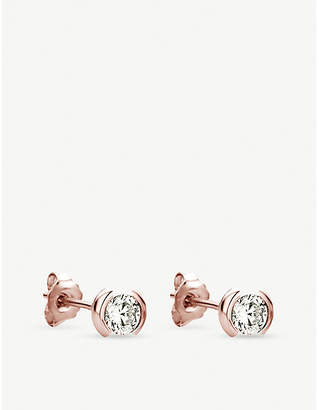 Rosegold The Alkemistry 18ct rose-gold and diamond stud earrings