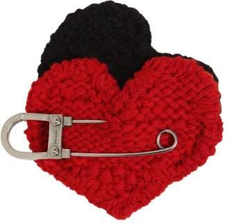 Prada Heart Mohair Knit Pin