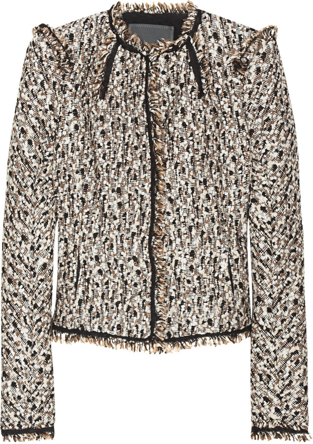 Zac Posen Ocelot tweed jacket