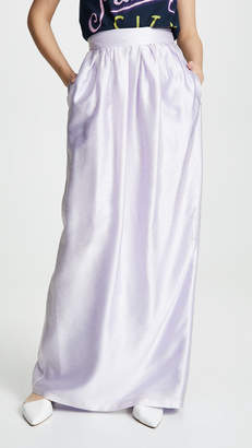 ADAM by Adam Lippes Iridescent Pleated Long Skirt