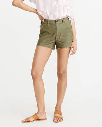 Abercrombie & Fitch High Rise Girlfriend Jean Shorts