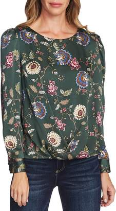 Vince Camuto Floral Puff Sleeve Top