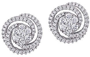 Affinity Diamond Jewelry Affinity 14K 1.50 cttw Diamond Cluster Stud Earrings