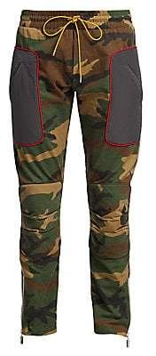 Rhude Men's Straight-Fit Camouflage Moto Pants