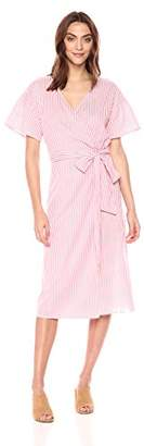 Velvet by Graham & Spencer Women's Jayel Striped Wrap Dress