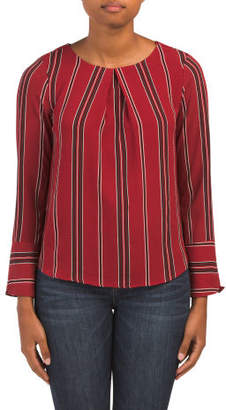 Juniors Large Cuff Long Sleeve Top