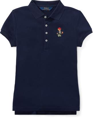 Ralph Lauren Wellie Bear Stretch Mesh Polo