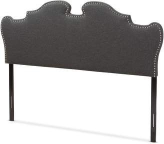 Baxton Studio Dalmatia Modern and Contemporary Dark Grey Fabric Size Headboard