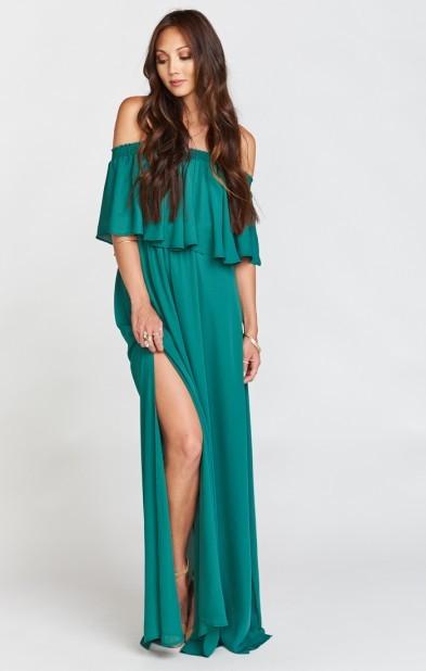 Hacienda Maxi Dress ~ Hutch Green Crisp