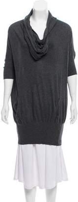 AllSaints Cowl Neck Short Sleeve Sweater
