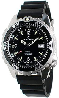 Momentum Men's Quartz Stainless Steel and Rubber Casual Watch