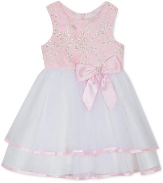 778cb42c1db4c Rare Editions Baby Girls Embroidered Sequin Tiered Dress