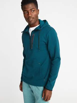 Old Navy Dynamic Fleece 4-Way-Stretch 1/2-Zip Hoodie for Men
