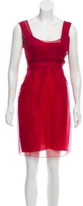 Celine Sleeveless Silk Dress